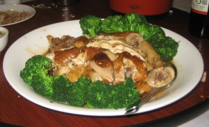 Chicken stuffed with Preserved Mustard Greens at the Hakka Restaurant