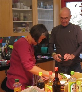 Cooking with Mark Bittman, NY Times writer.