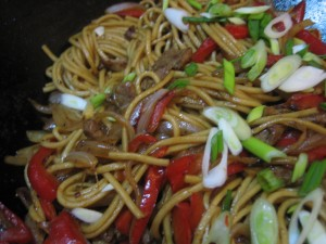 Sweet soy chow mein