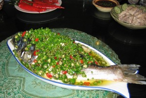 steamed fish with chiles