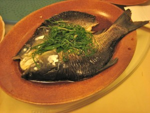 steamed fish with green onions