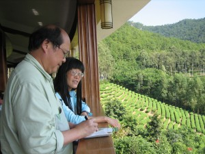 Alan Lau and his wife Kazuko Nakane in China.
