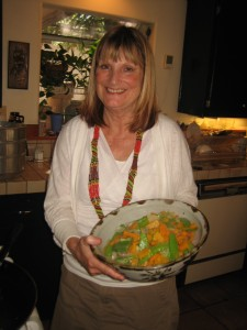 Barbara with Squash and Peas