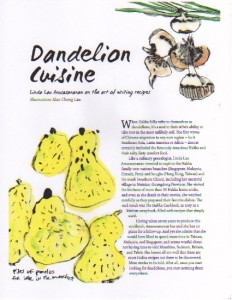 dandelion cuisine