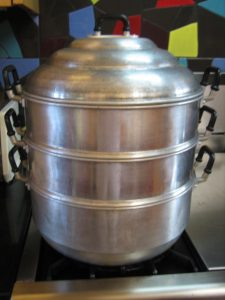 Chinese stacked steamer